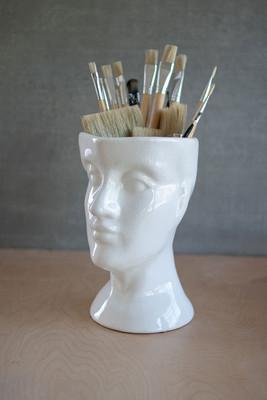 ceramic head - white