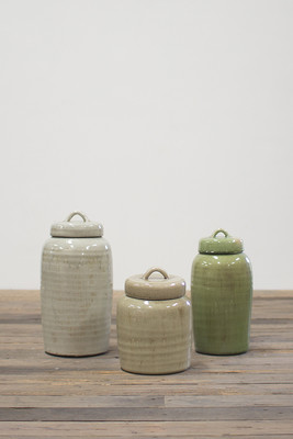 set of 3 ceramic canisters