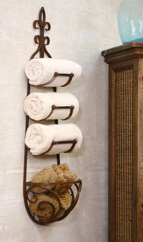 forged iron bath rack