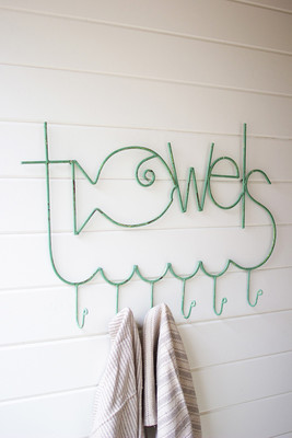 fish towels rack