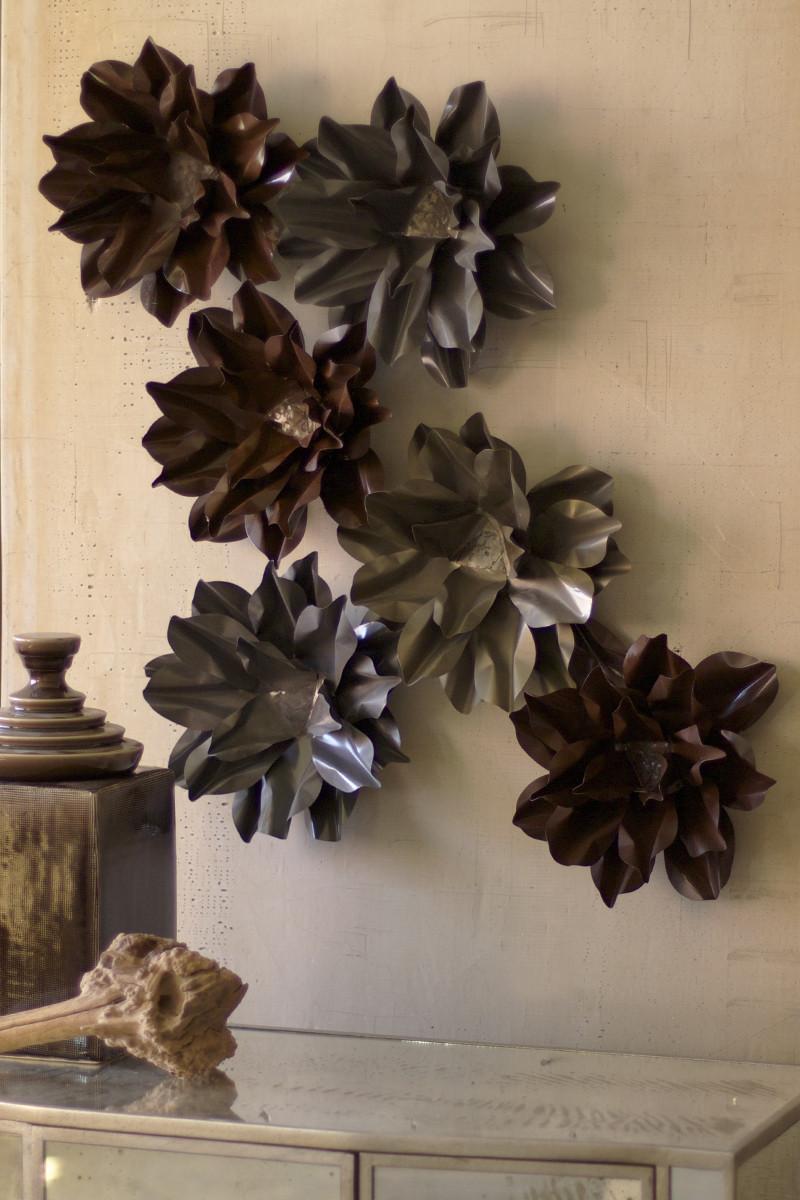 Rustic Metal Wall Hangings Metal Wall Hanging Flower