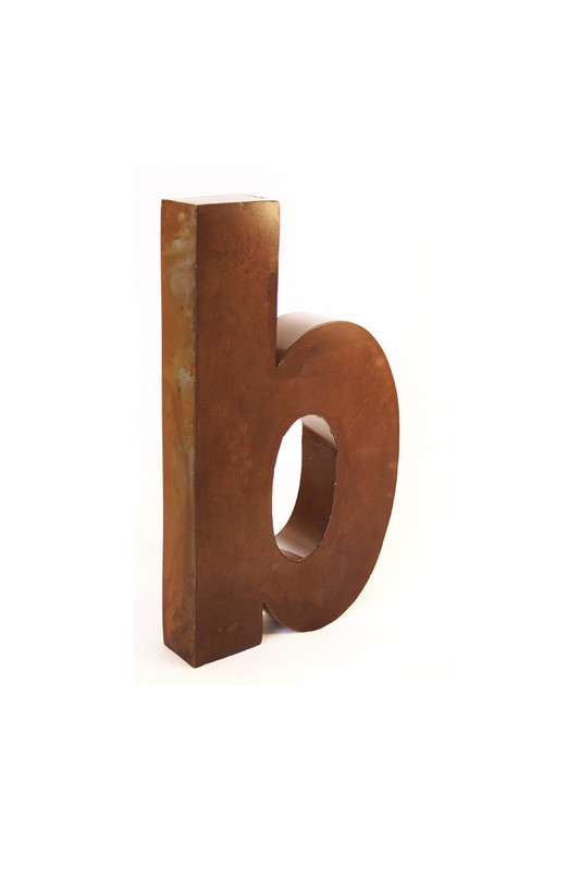 rustic metal letter - B
