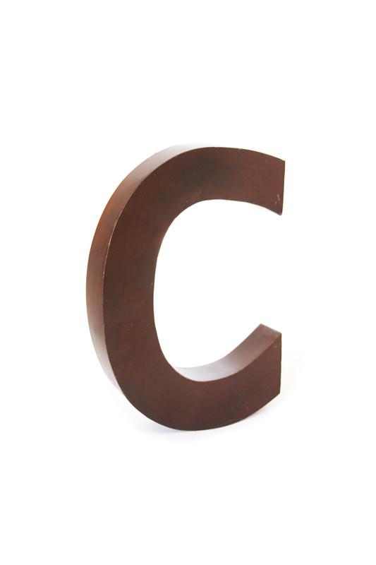 rustic metal letter - C