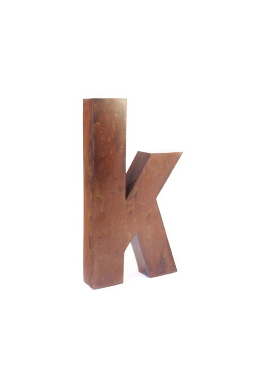 rustic metal letter - K
