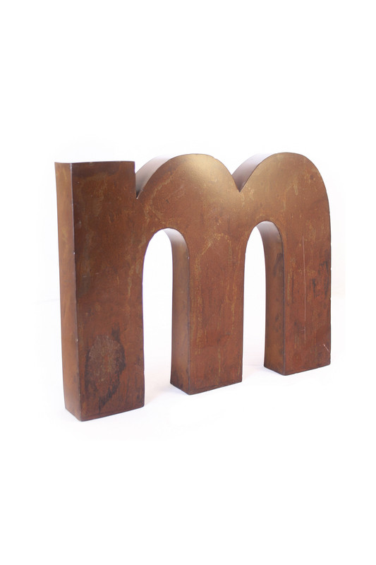 rustic metal letter - M