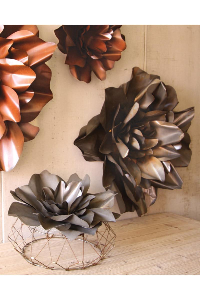 Attractive Raw Metal Flower Wall Hangings | Flower Sculpture | Metal Flower Wall Art