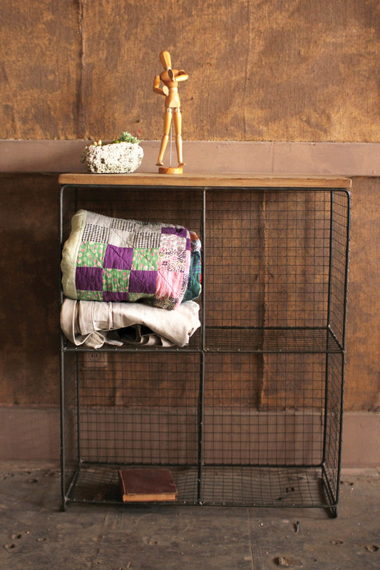 four cubby wire console