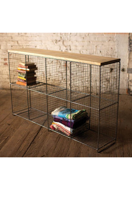 Eight Cubby Console with Wooden Top