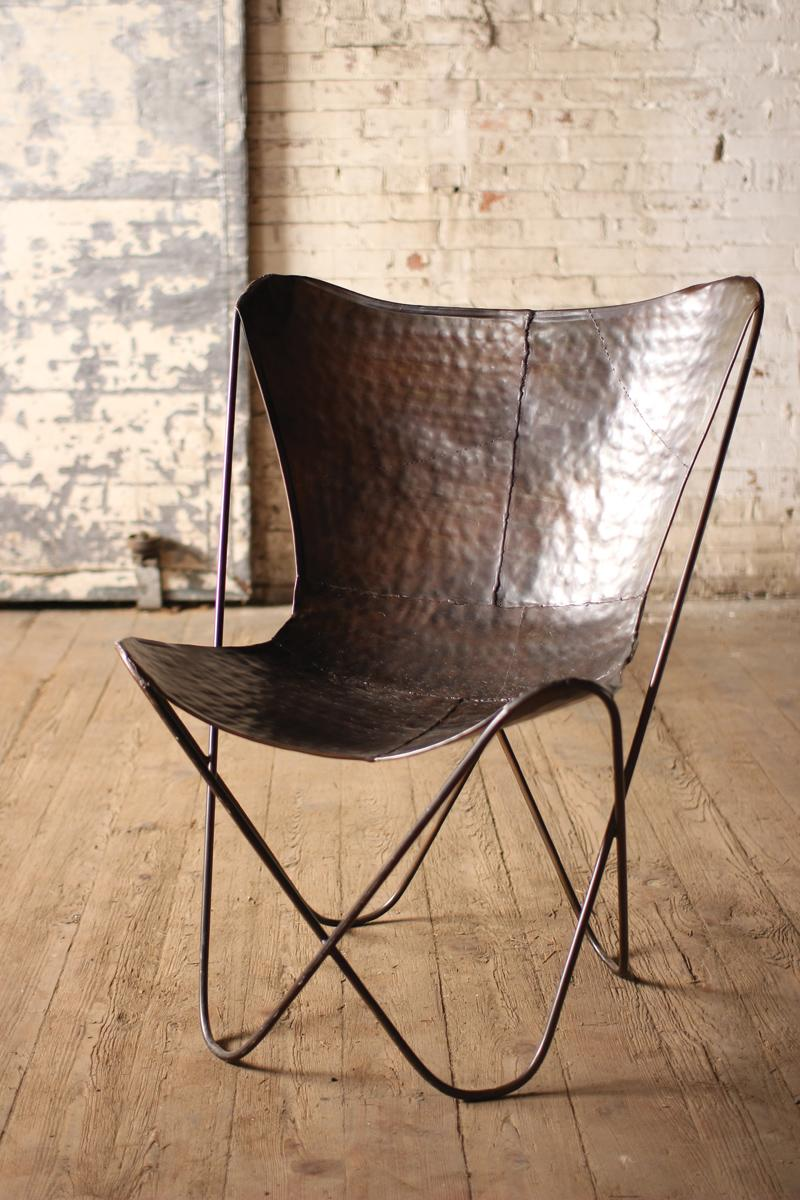 Exceptionnel Antique Black Iron Butterfly Chair