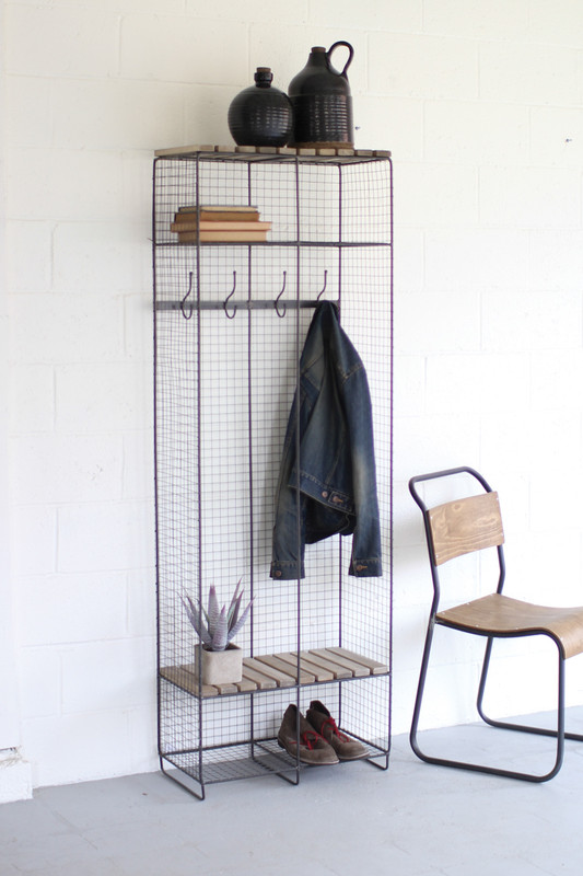 wire & wood double locker