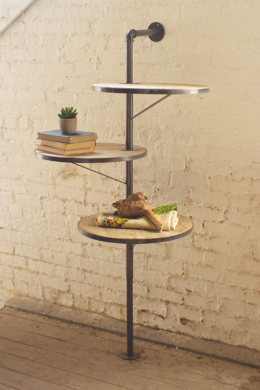 3 tiered round swivel shelving unit