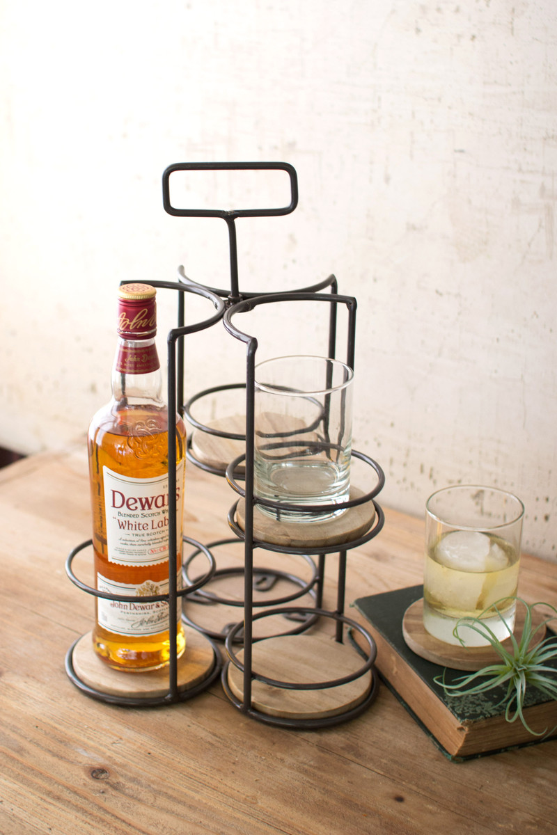 whisky and highball caddy