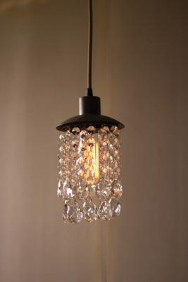 metal pendant light with gems