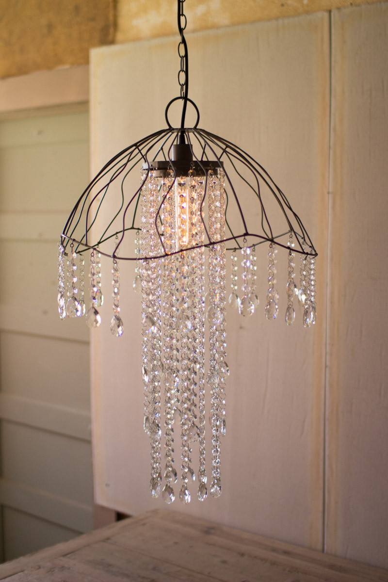 Wire gems jellyfish pendant light arubaitofo Image collections