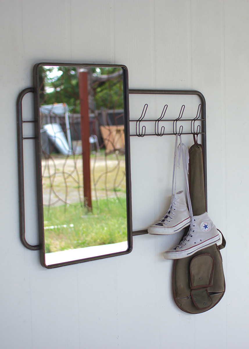 WALL MIRROR AND COAT RACK