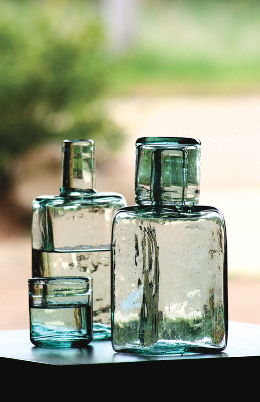 recycled bedside water carafe
