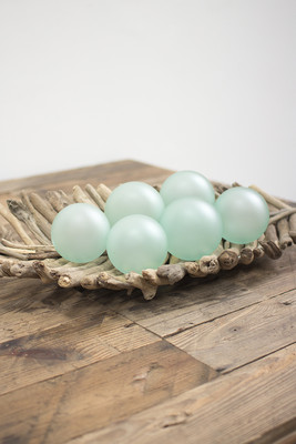 set of 6 frosted glass balls