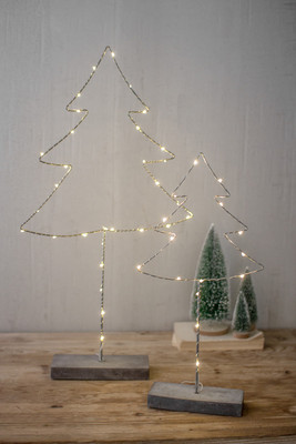 metal trees with led lights