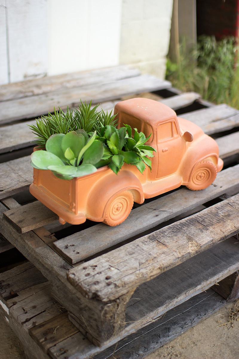 terracotta truck planter