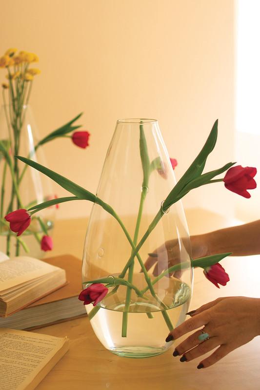 Multi-Hole Glass Vase