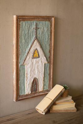 Wood Framed Painted Metal Church
