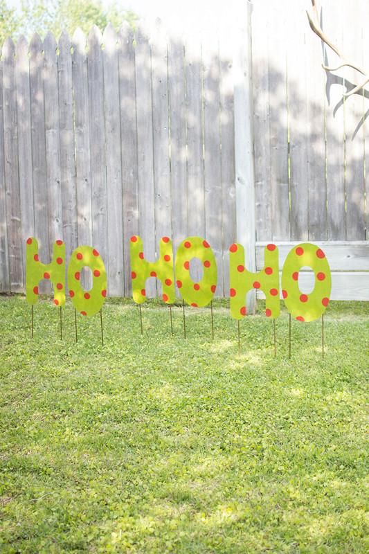 Ho, Ho, Ho Yard Art