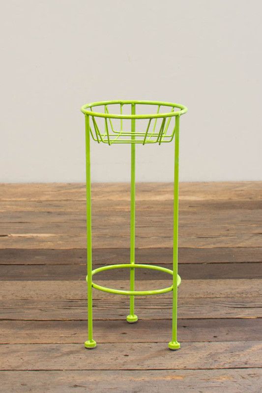 small lime green planter