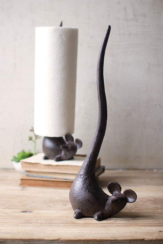 cast iron mouse paper towel holder