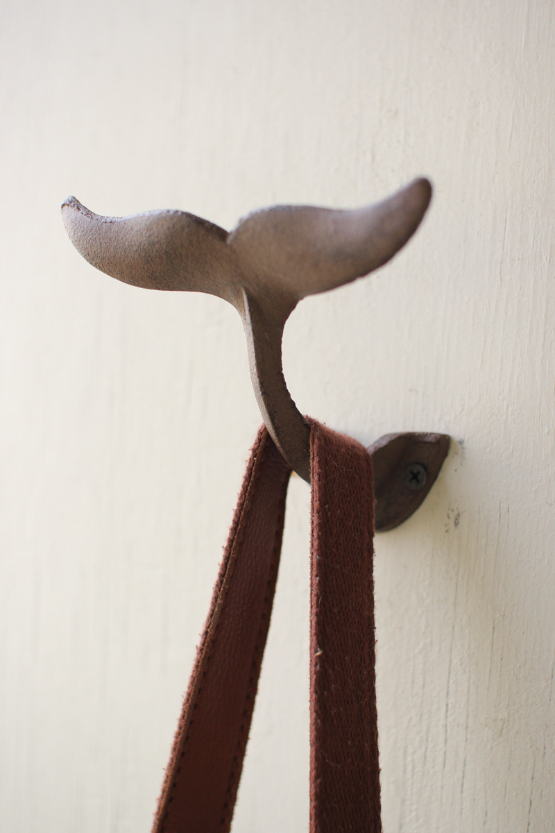 Cast Iron Whale S Tale Wall Hook