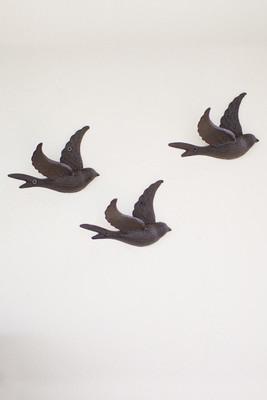 cast iron flying bird wall hook