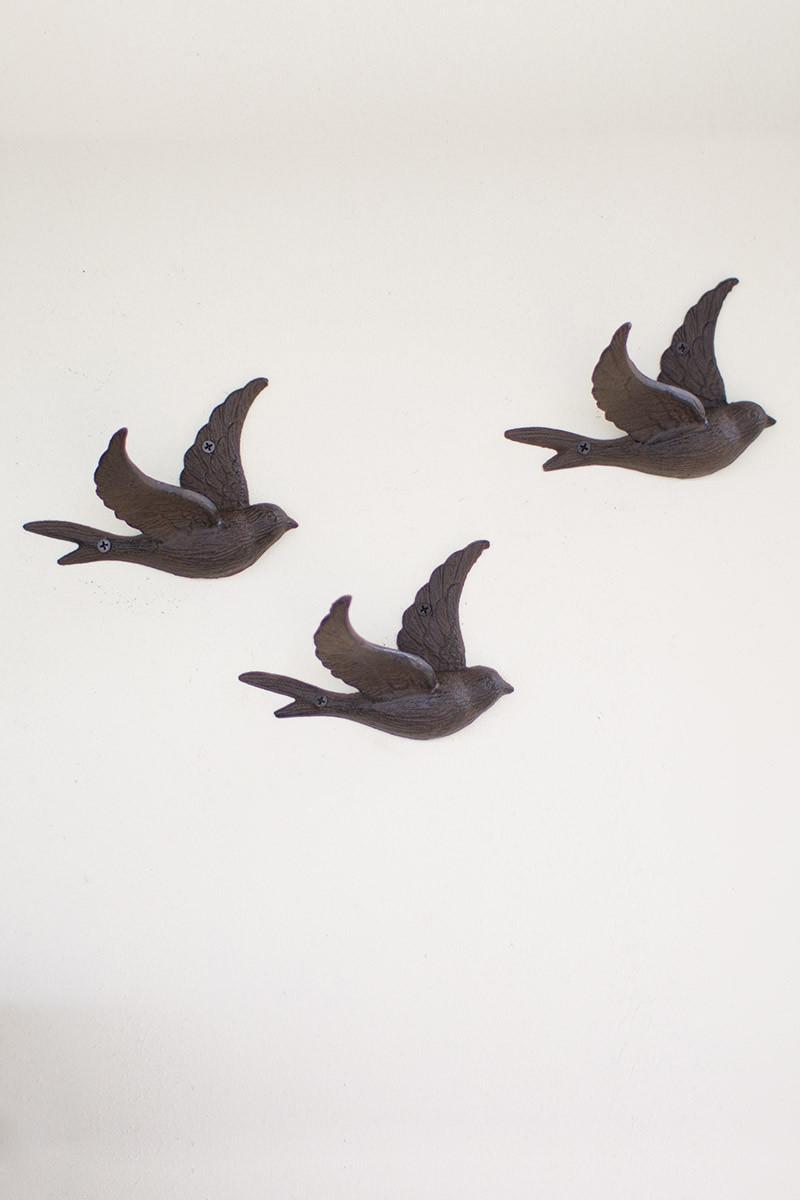 Home cast iron flying bird wall hoook