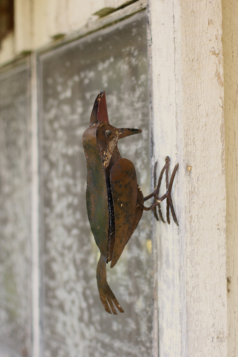 Rustic Metal Woodpecker