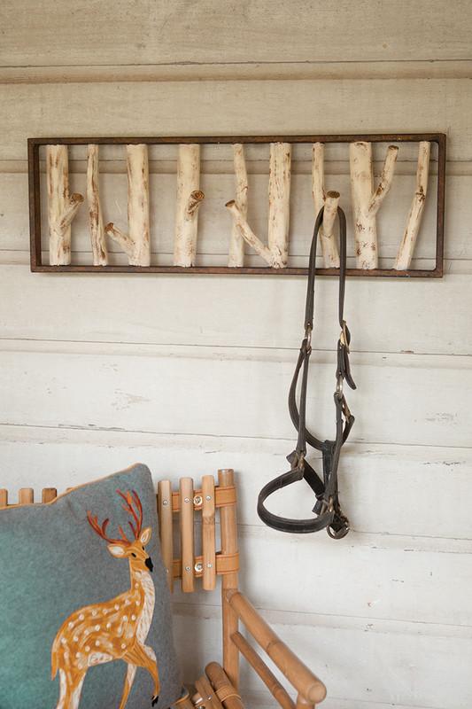 metal faux birch tree coat rack