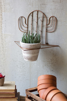 COPPER FINISH CACTUS SCONCE