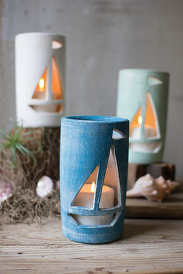 CLAY SAILBOAT LUMINARIES