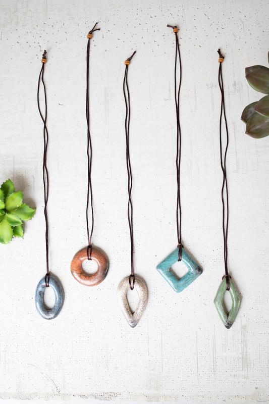 Set of 5 Clay Lenca Necklaces