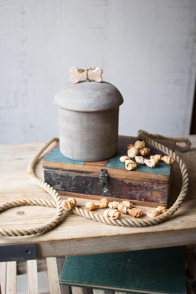 clay dog treats canister