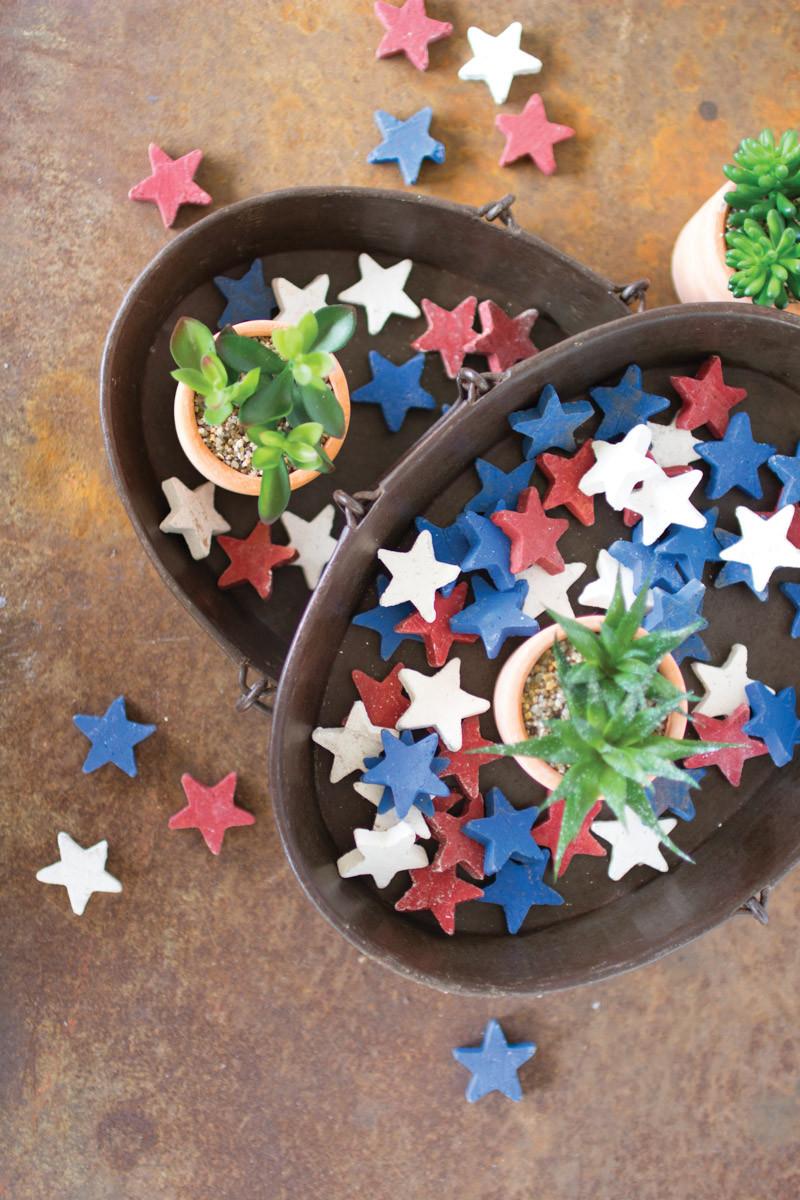 blue clay stars