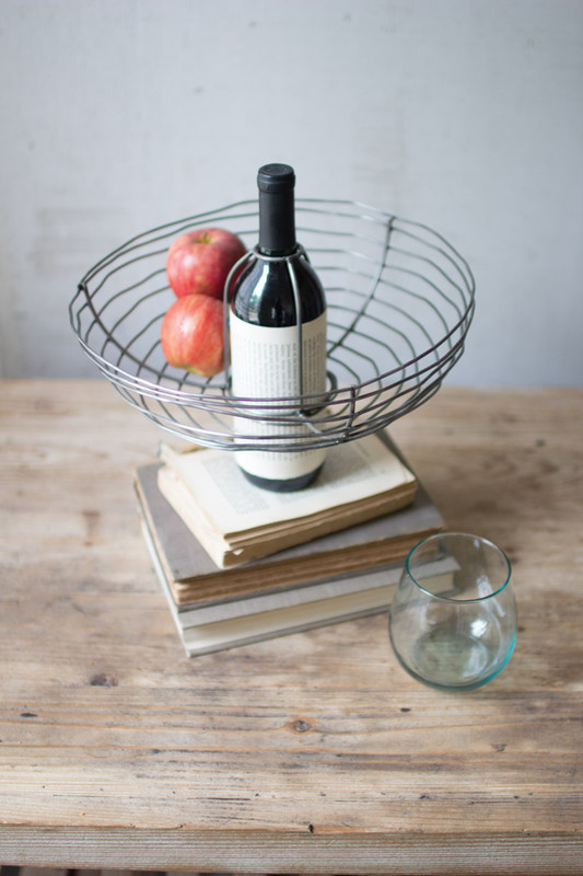 WIRE WINE BASKET BOTTLE TOPPER