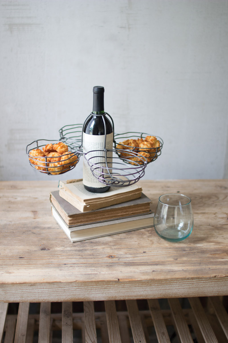 WIRE WINE BOTTLE TOPPER