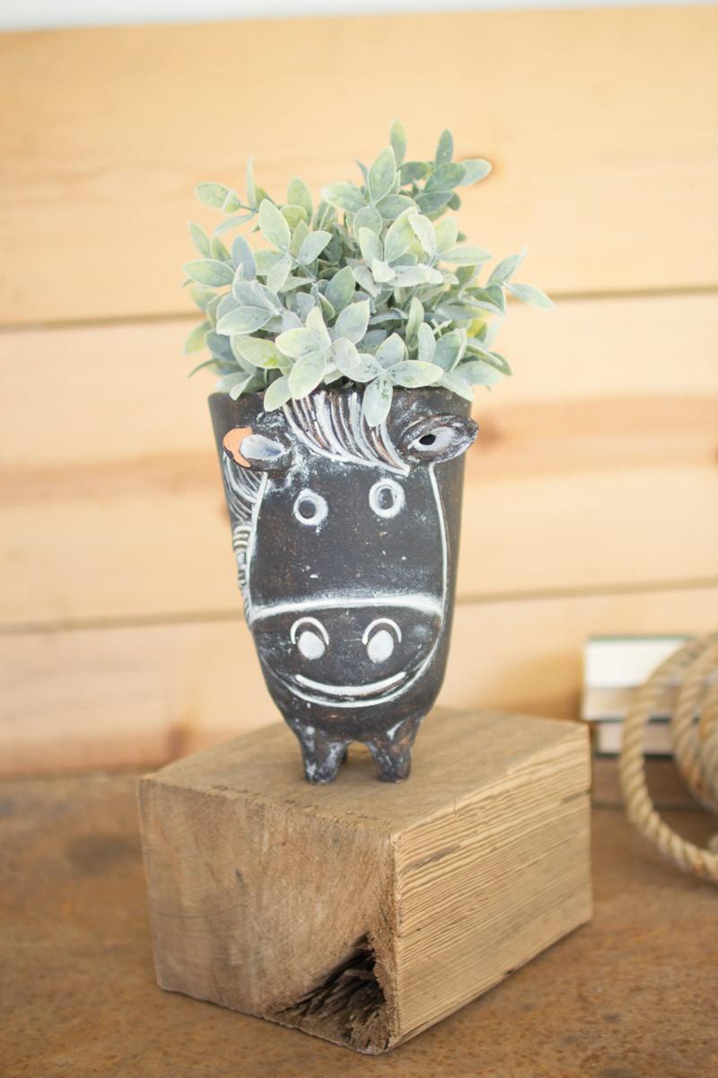 Clay Horse Planter