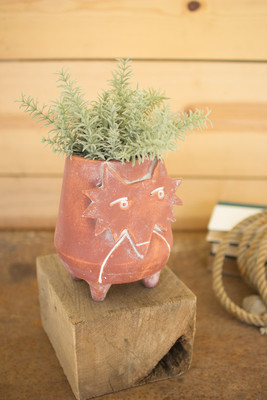CLAY FOX PLANTER