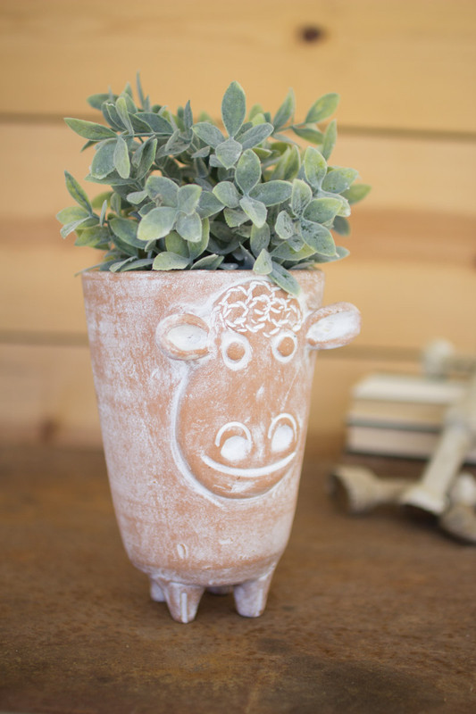 CLAY SHEEP PLANTER