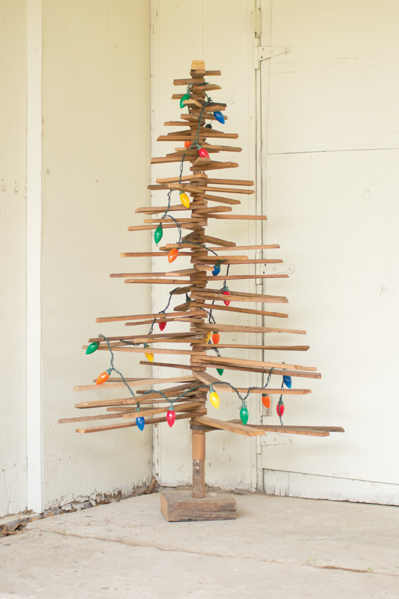 recycled wood Christmas tree