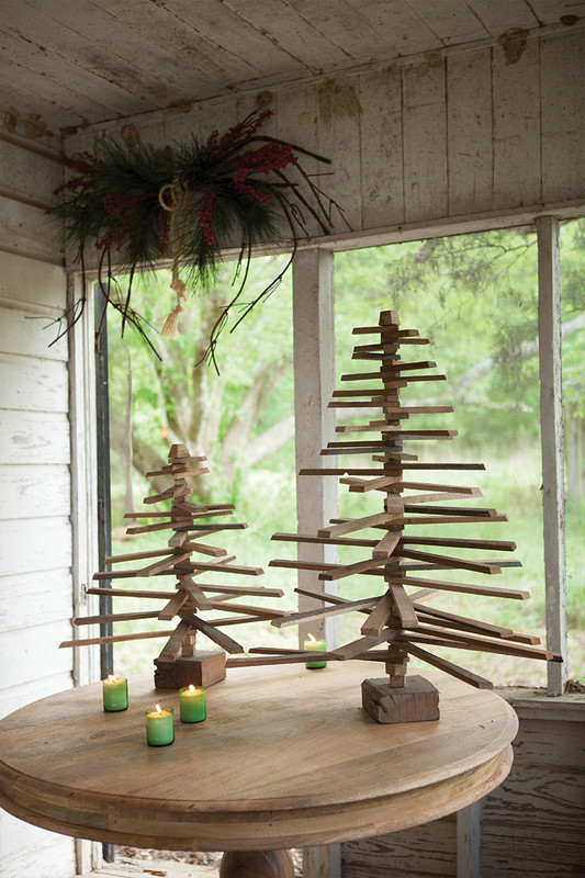 tabletop wooden Christmas tree