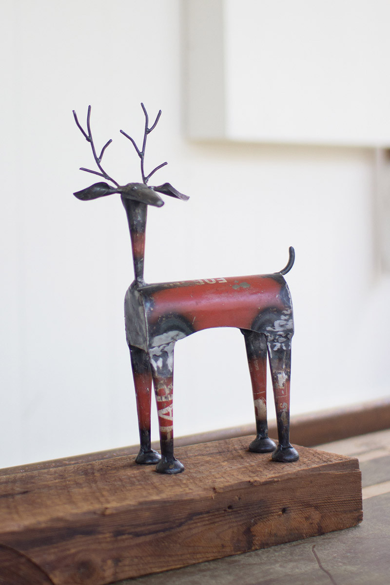 Recycled Iron Deer Red