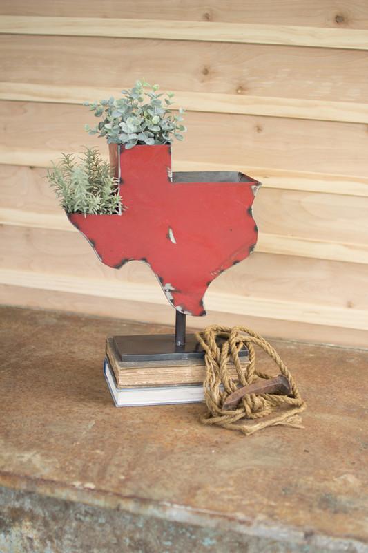 Recycled Iron Texas on an Iron Base