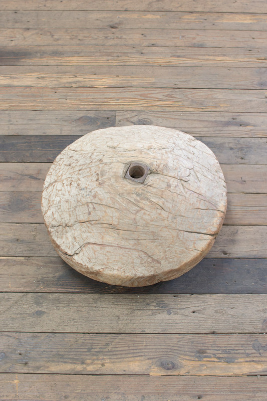 Antique Wooden Pulley Wheel