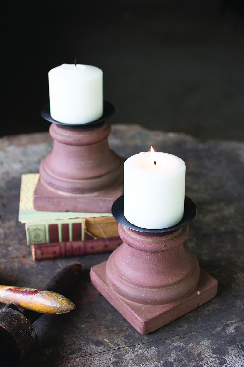 stone base with 4 inch candle cup