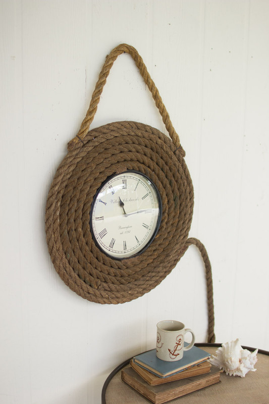 DOCK ROPE WALL CLOCK